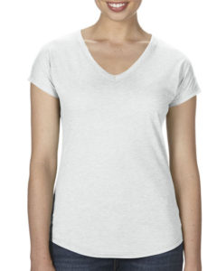 TBTS Anvil Ladies V-Neck White