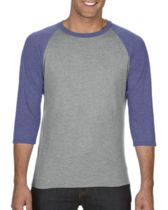 TBTS Anvil Raglan T-Shirt Heather Grey_Heather Blue