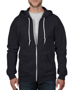 TBTS Anvil Zip Up Hoodie Black