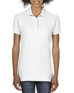 Gildan Cotton Ladies Pique Polo White