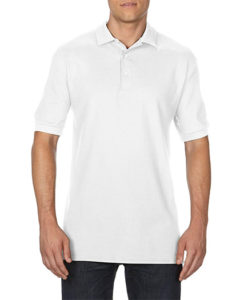 Gildan Cotton Men Pique Polo White