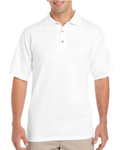 Gildan Cotton Men Polo White