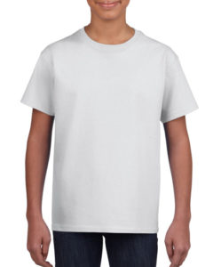 Gildan Cotton Kids T Shirt White