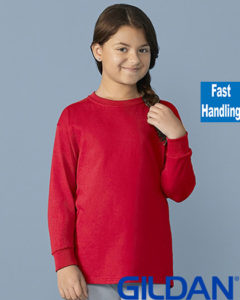 Gildan Cotton Kids Long Sleeve T Shirt