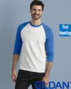 Gildan Cotton Men Raglan T Shirt