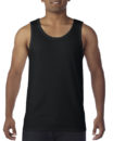 Gildan Cotton Men Singlet Black