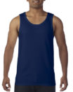 Gildan Cotton Men Singlet Navy