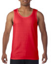 Gildan Cotton Men Singlet Red