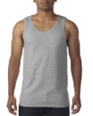 Gildan Cotton Men Singlet Sports Grey