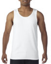 Gildan Cotton Men Singlet White