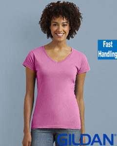 Gildan Soft Style Ladies V Neck