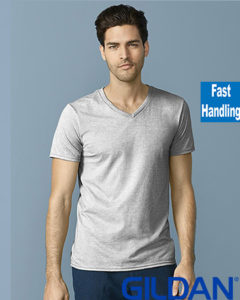 Gildan Soft Style Men V Neck T Shirt