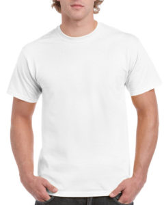 Gildan Cotton Men T Shirt White