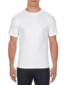 AAA Alstyle Cotton Men T Shirt White
